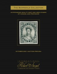Preview: The Scarsdale Collection, Part 11: Outstanding Quality Mint and Used Stamps of Canada and Provinces