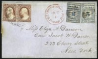 The unique 2c Hawaiian Missionary coverSold by Siegel in 2013 for a record $2,242,500
