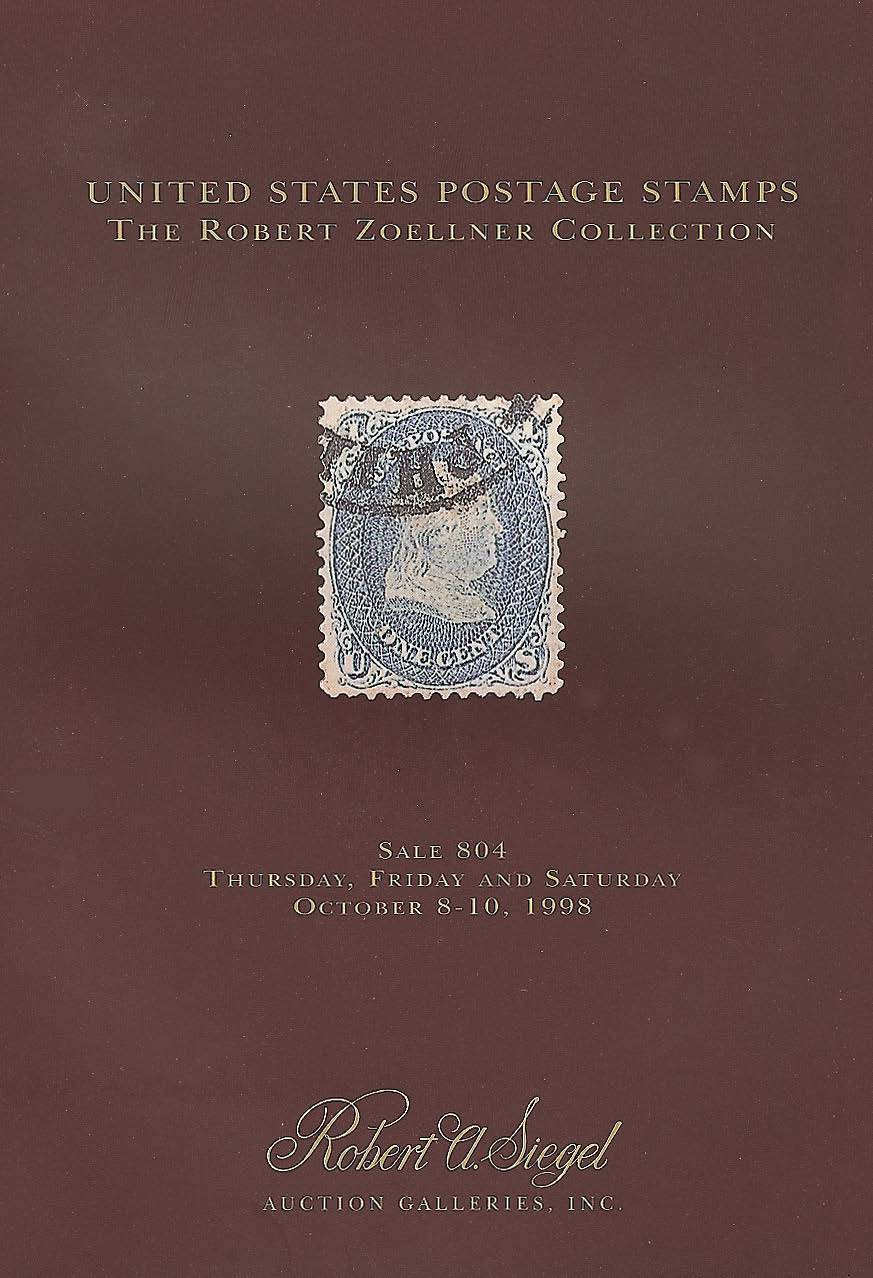 Robert Zoellner 1998 sale catalogue — Siegel Auction Galleries