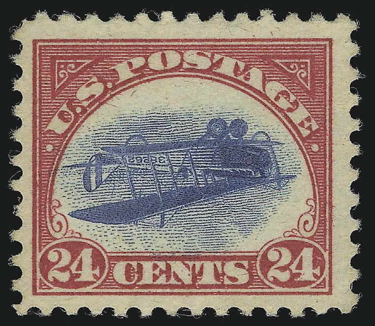 The first Inverted Jenny sold by Siegel at auction Position 84 — Siegel Auction Galleries