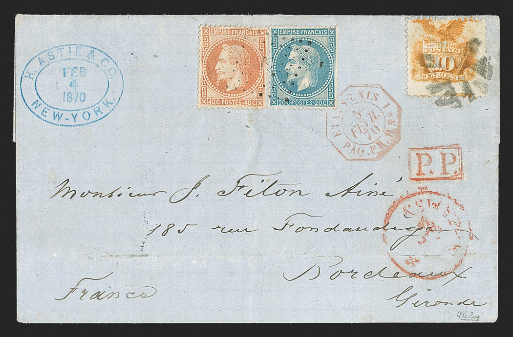 The Extraordinary Cover with 1869 Pictorial and French Stamps