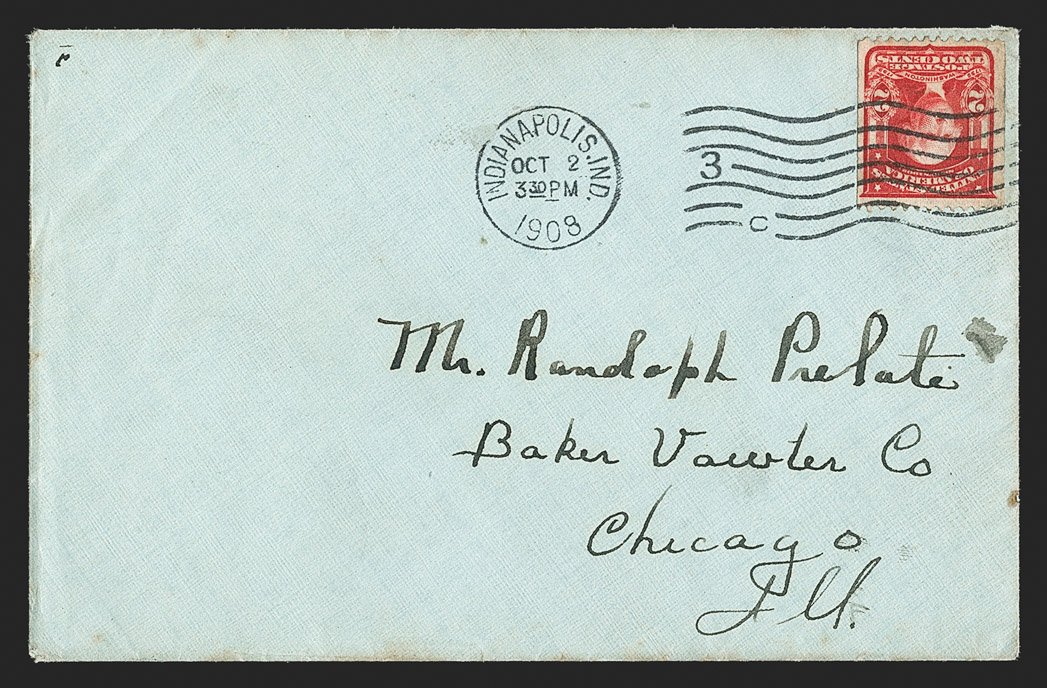 The Finer of Two Known Covers with the 2¢ 1908 Vertical Coil