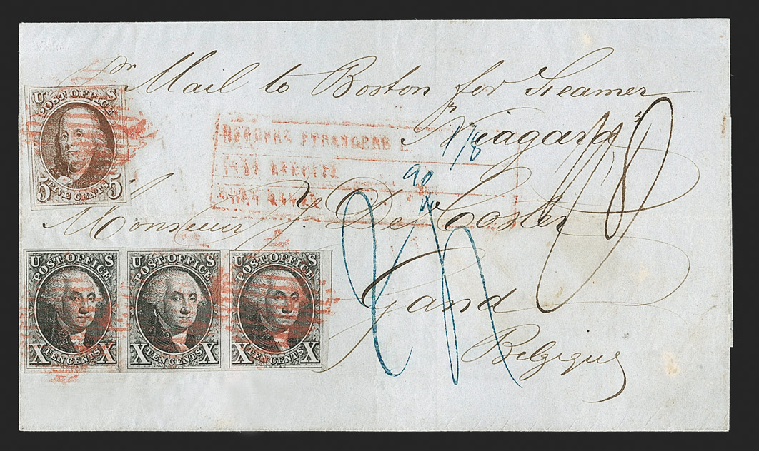 The Unique 1847 First Issue Cover Sent to Belgium during the 'Postal War' with England