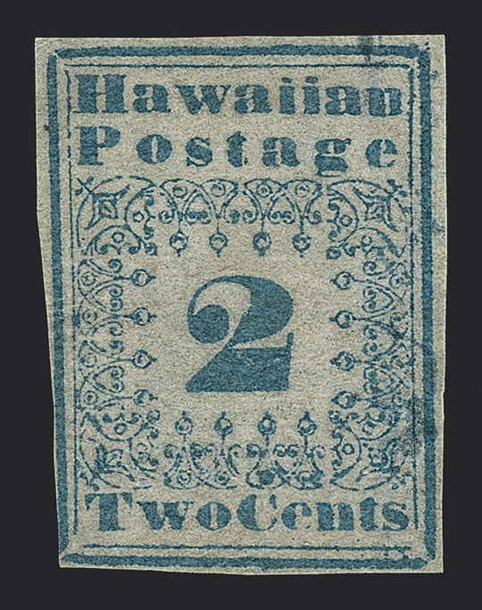 The Unique Unused Example of the 2¢ Blue Hawaiian Missionary